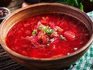 Приготвяне на рецепта Постна супа борш с кисело зеле и червено цвекло
